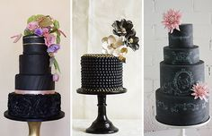 Boldly Different - Black Wedding Cakes | OneFabDay.com