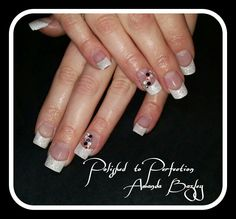Acrylic Enhancements with Swarovski Crystals and Glitter  x