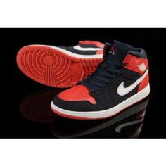 brand new b5bd1 1639f Air Jordan 1 Retro High Black Nike I Mens Shoes 2014 Red Cheap Jordans, Nike