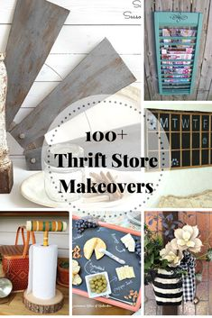 100 Thrift Store Makeovers - that you can do! - 100 Thrift Store Makeovers – that you can do! Thrift Store Crafts, Crafts To Sell, Easy Crafts, Diy And Crafts, Thrift Stores, Upcycled Crafts, Wood Crafts, Annie Sloan, Diy Home Decor Rustic