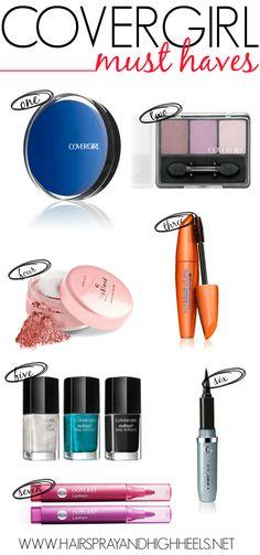 Best Covergirl Products via www.hairsprayandhighheels.com