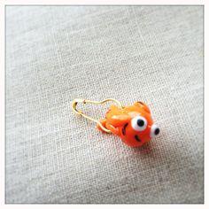 Goldfish Crochet Stitch Marker by lemonadeshop on Etsy, $5.00