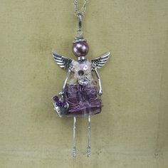 Amethyst Angel Necklace from The Holiday Barn