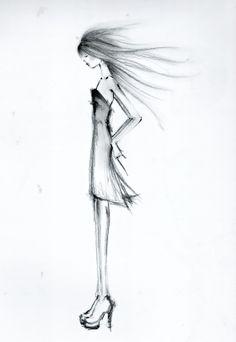 Contra viento - Dibujo de Celia Vela 2014