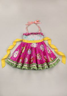 Send Me On My Way Ellie Roundabout Dress (RV $72) *Trim and skirt ruffle fabric may vary