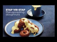 Malvapoeding-doughnuts | SARIE Doughnuts, Scones, Biscuits, Pancakes, Muffins, Oatmeal, Pudding, Cook, Warm