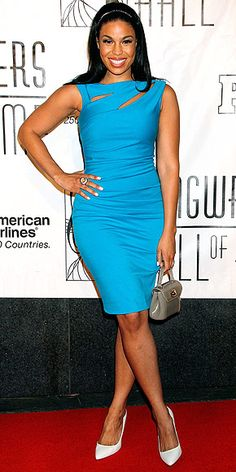 JORDIN SPARKS - bright Summer blue  - perfect color and fit. neckline offers just a bit of intrigue..