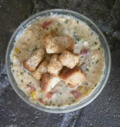 A delicious recipe for Zupas garden chowder (aka Christmas chowder) filled with zucchini, tomatoes and rich melted cheese.