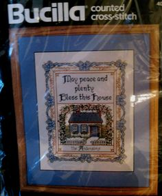 House Blessing Bucilla Cross Stitch Kit Prayer Peace and Plenty Joan Eliott