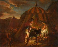Koneberg, Johann Michael 1733 Dietmannsried - 1802 Dietmannsried Zwei Gemälde. Szenen aus dem Leben Alexanders. Beide Gemälde signiert, datiert 1781. Öl/Lwd./doubl., je 100 x 122 cm