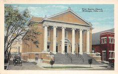 Oklahoma OK Postcard Muskogee c1920 First Baptist Church | eBay