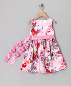 Take a look at this Rose Toile Bow Dress - Toddler & Girls by Baby Nay on #zulily today!