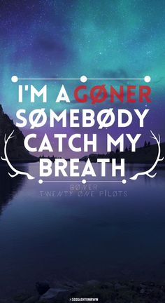 Goner - Twenty One Pilots | credit: @ashtonbrah @5sosashtonirwin