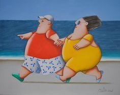 Artista  Gustavo Rosa Plus Size Art, Fat Art, Art Pictures, Photos, Arte Popular, Am Meer, Fat Women, Naive Art, Funny Art