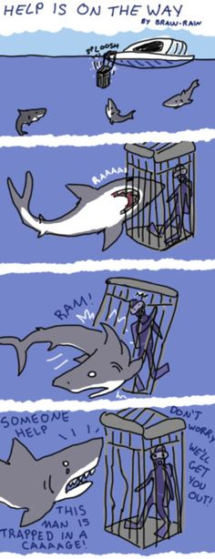 Sharks are misunderstood...they hug with their mouths..