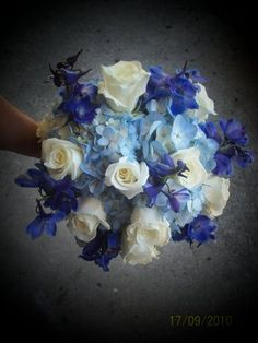 Wedding, Flowers, White, Blue, Bridesmaids, Brides - Project Wedding
