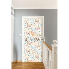 Παιδικό Αυτοκόλλητο Πόρτας με πεταλούδες Curtains, Quilts, Shower, Blanket, Bed, Home Decor, Rain Shower Heads, Blinds, Decoration Home