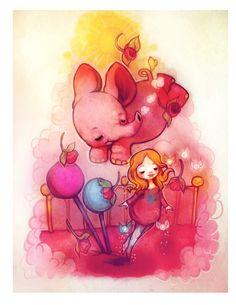"""""""Love Parade""""   Graphite + Digital. 2013. #flyokay   Tags: #illustration #whimsical #fantasy #art #kawaii"""