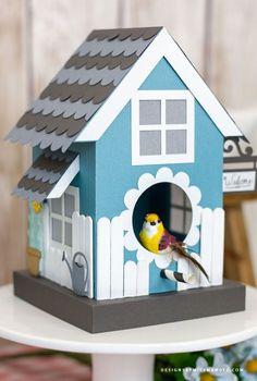 FREE 3D Birdhouse – Summer Cut Files - Designs By Miss Mandee