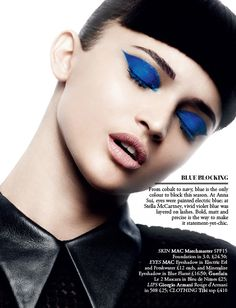Colour blocking - Beauty Editorial Harrods Magazine - The Faces of Ysl Beauty, Beauty Shoot, Fashion Beauty, Makeup Trends, Makeup Tips, Makeup Ideas, Foto Fashion, Blue Eyeshadow, Eyeshadow Ideas