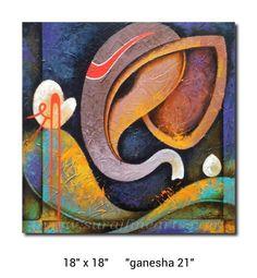 Ganesha44 Lord Ganesha Paintings, Ganesha Art, Krishna Art, Indian Artwork, Indian Paintings, Canvas Painting Tutorials, Decoupage, Modern Art Paintings, Art N Craft
