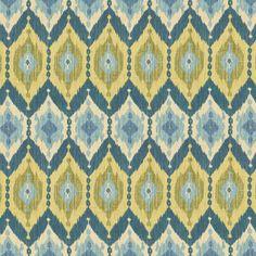 Tecido Kublai Khan In Bluegreen