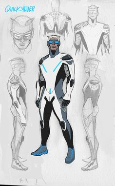 2015 Quicksilver uniform redesign #Quicksilver #Avengers