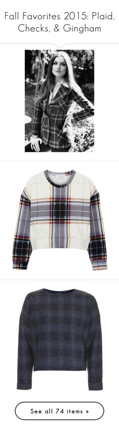 """""""Fall Favorites 2015: Plaid, Checks, & Gingham"""" by skylarinc ❤ liked on Polyvore featuring tops, hoodies, sweatshirts, sweaters, jumpers, shirts, plaid shirts, tartan shirt, tartan plaid shirt and plaid sweatshirt"""