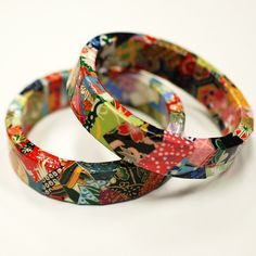 Japanese Origami Paper Eco Friendly Bangle Bracelet