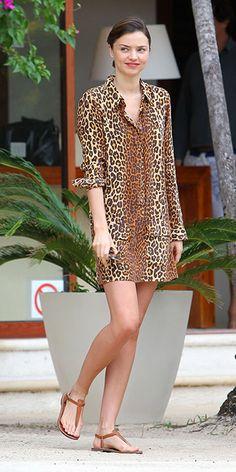 shop Miranda Kerr's leopard look