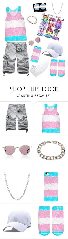 """Trans Pride 2017"" by bigtexfunkadelic ❤ liked on Polyvore featuring Barton Perreira, David Yurman, NIKE, pride, lgbt, transgender, trans and BigTexFunkadelic"