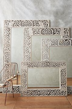 love the look of these mirrors  http://rstyle.me/n/qd34ipdpe