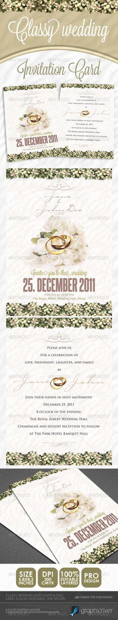 My Free goodies, software via like n share on http://www.amit.gallery , Else From Pinterest Classy Wedding Invitations • Click here to download…