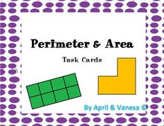 Perimeter and Area Real-World Word Problem Task Cards