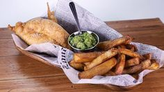 Beer Battered Fish \'n\' Chips with Mushy Peas