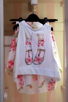 @monnalisaspa t-shirt with flowers shoes print #monnalisa #SS15 #spring #summer…