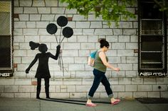 street art: the miracle of shadows