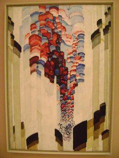 František Kupka (Czech, 1871 – 1957), [Orphism] Sprouting (Swirling), Oil on canvas, 1923.