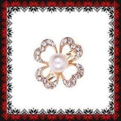 Martisor Brosa Contur Trifoi cu Perluta Brooch, Metal, Jewelry, See Through, Jewlery, Jewerly, Brooches, Schmuck, Metals