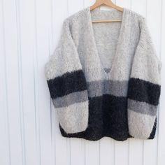 Sweater Knitting Patterns, Crochet Cardigan, Knitting Designs, Knit Crochet, Chunky Cardigan, Diy Clothes, Pullover Sweaters, Knitwear, Dressing