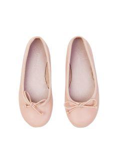 Bow leather ballerinas Mango Kids