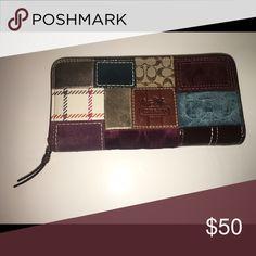 Coach patchwork wallet patch work Coach Bags Clutches & Wristlets