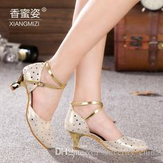 Encuentra el mejor auténticos zapatos de cuero de los zapatos deportivos latinos adulto medio talón y la danza de los zapatos de las…