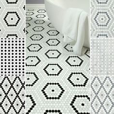 Introducing our newest stone mosaic collection, Riverside Drive! Recalling the elegance of old New York, Riverside Drive takes historic patterns from their porcelain roots into a higher class. Fashioned from fine marble hexagons, these art deco mosaics are available in three patterns and two colorways, and may be totally customized with our Tailored To program.