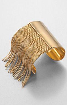 MICHAEL KORS ● Gold Fringe Cuff Bracelet