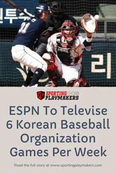 On Monday, ESPN announced its partnership with Eclat Media Group to become the exclusive English-language network of the Korean Baseball Organization Nippon Professional Baseball, Play Maker, Tigers Game, Baseball League, Mlb Players, Mlb Teams, Espn, English Language, Nascar