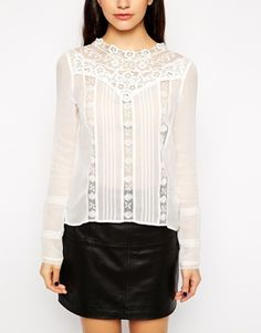 High Neck Victoriana Blouse