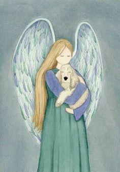 MY Purdy Girl-Buff cocker spaniel with angel / Lynch signed Folk Art Print American Cocker Spaniel, I Believe In Angels, Cockerspaniel, Les Religions, Spaniel Puppies, Pet Loss, Guardian Angels, Angel Art, Rainbow Bridge