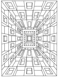 To print this free coloring page «coloring-op-art-jean-larcher-1», click on the printer icon at the right