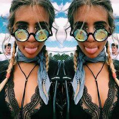 Kaleidoscope Glasses, Rave Sunglasses, Rave Glasses, Prism Glasses, Diffraction Glasses, Rave Goggles, Sunglasses Women, Round Sunglasses